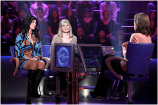 "This is a picture of Julia Dunning (the blogger' wife) on the show ""Who wants to be a Millionaire?"""