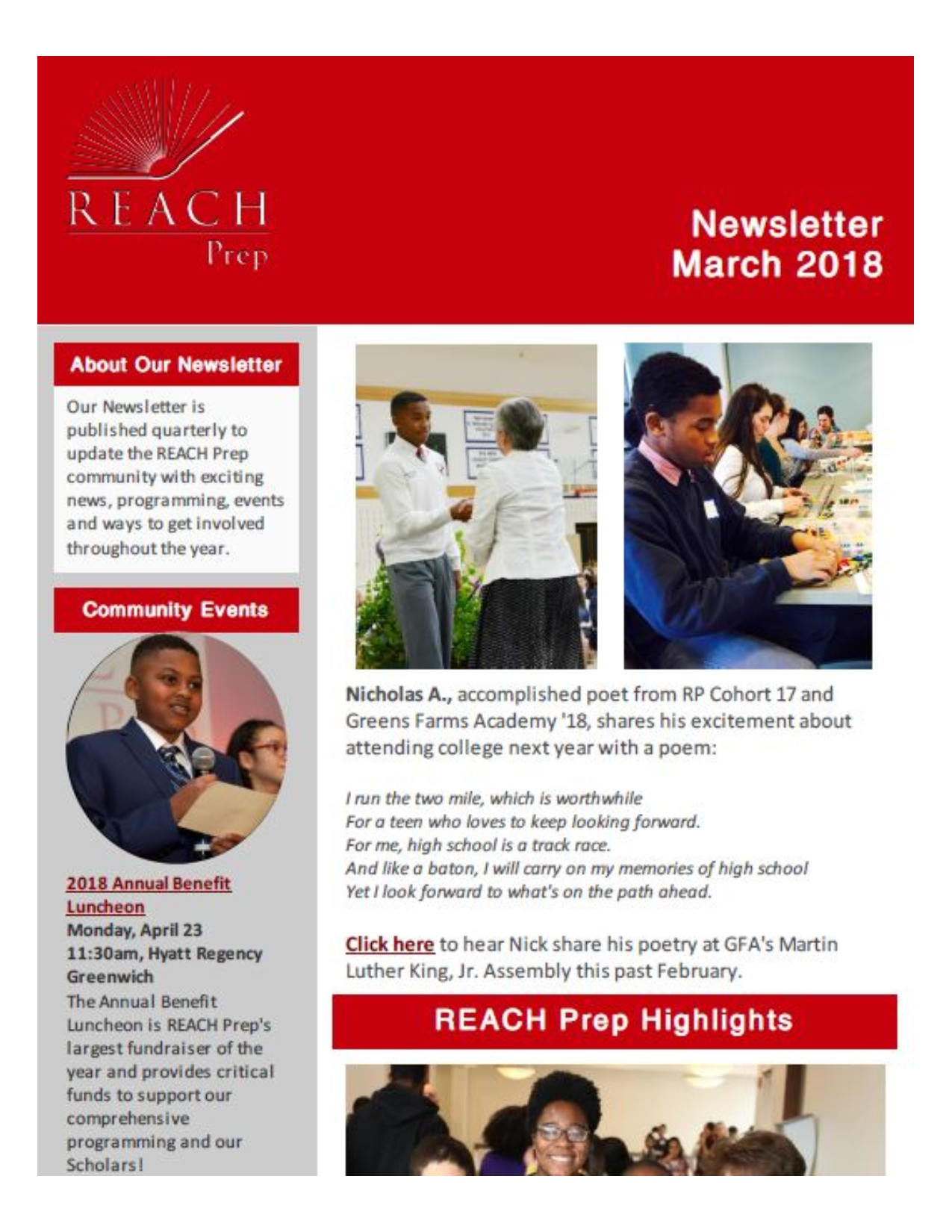 Newsletter: March 2018