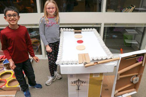 2019 Cardboard Challenge students