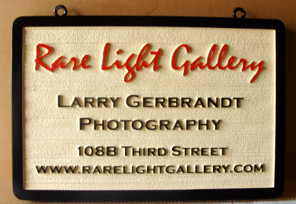 "SA28409 - Wood Grain Sign for the "" Rare Light Gallery""  Photography Studio"