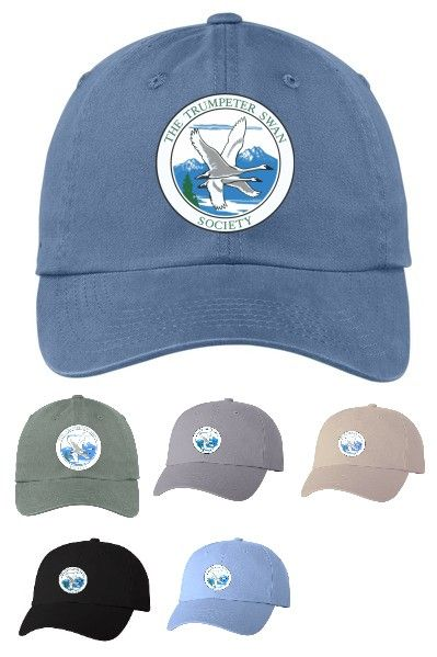 Trumpeter Swan Society embroidered Logo Hat, $25