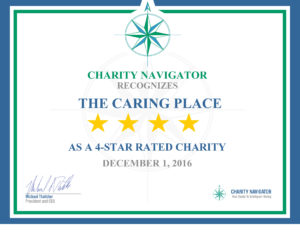 The Caring Place Receives Highest Rating from Charity Navigator