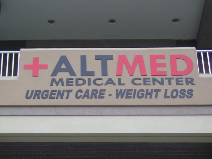 AltMed Storefront Sign
