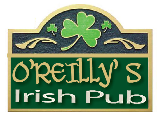 FG611 - Carved 2.5-D  HDU  Wall Plaque for a Home Irish  Pub, with Shamrock - $180