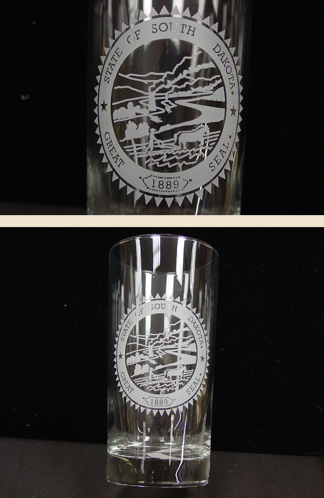 Glass Beverage 12.5 oz State Seal