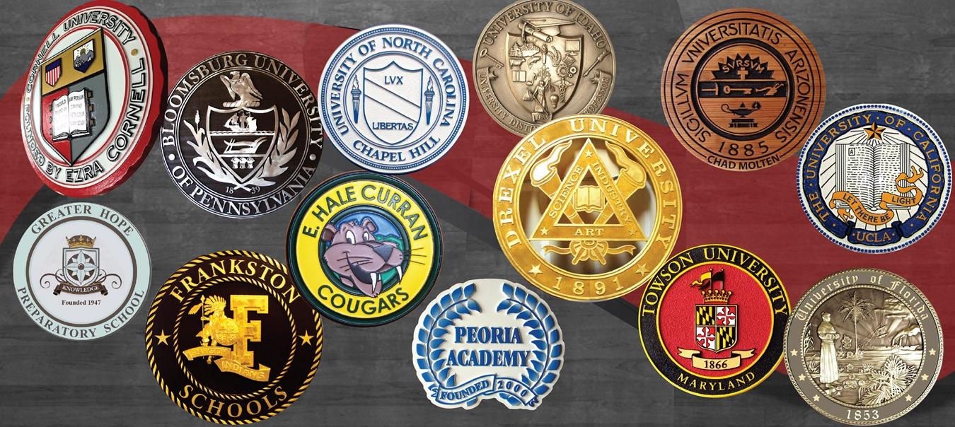 custom university,school, fraternity, sorority signs & plaques