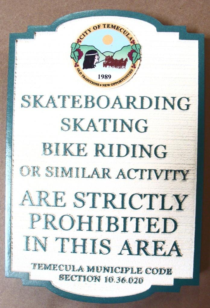 H17535 - Skateboarding Prohibited Sign