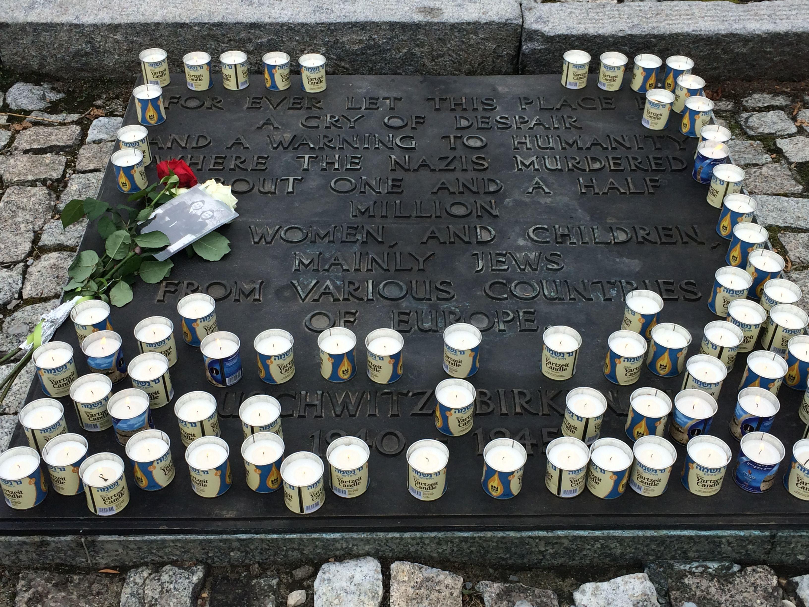 Candlelighting Ceremony at Birkenau Memorial