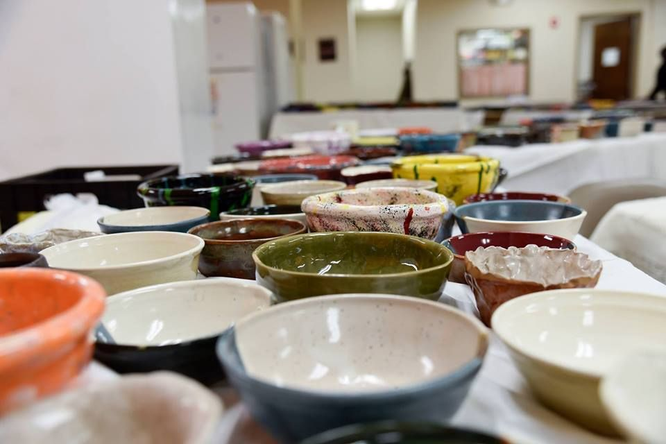 Various color bowls.