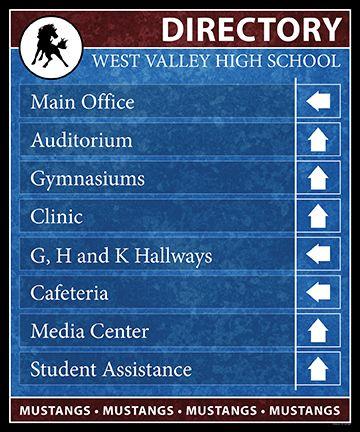 8-Line School Directory