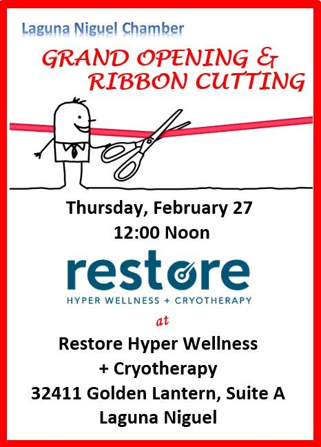 Restore Hyper Wellness + Cryotherapy - Ribbon Cutting