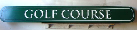 E14145 - Engraved HDU Golf Course Sign