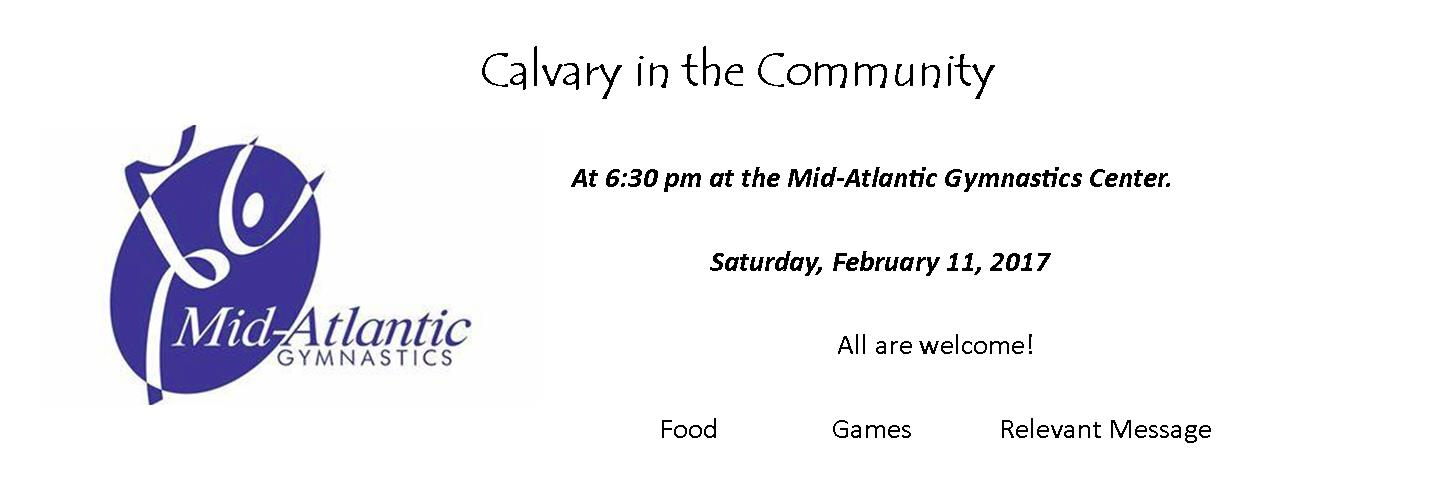 Calvary in the Community
