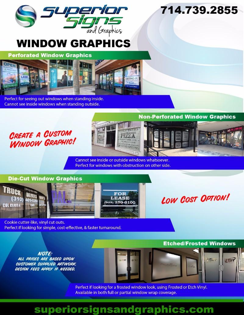 Guide to Window Graphics Orange County CA