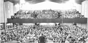 Dr. Clyde Narramore speaks to a Sunday School Convention.