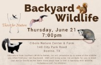 a Thirst for Nature event: Backyard Wildlife