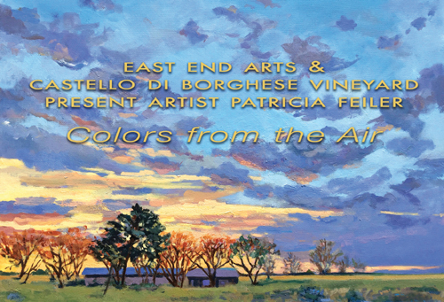 COLORS FROM THE AIR Art Show Featuring North Fork Artist Patricia Feiler, Exhibit Starting Saturday, June 10 (posted May 24, 2017)