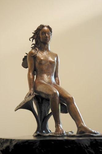 """Lotus Fairy, Bronze, 17.5"""" x 12.5"""" x 9"""""""