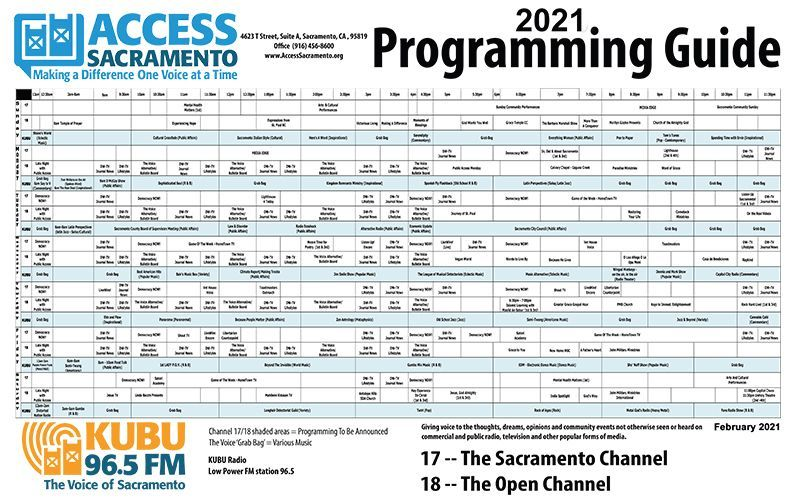 Channel 17/18 -The Voice - Program Guide