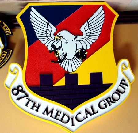 V31385 - Navy Medical Group Wall Plaque
