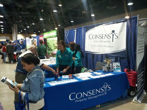 Trade show custom table throws Orange County