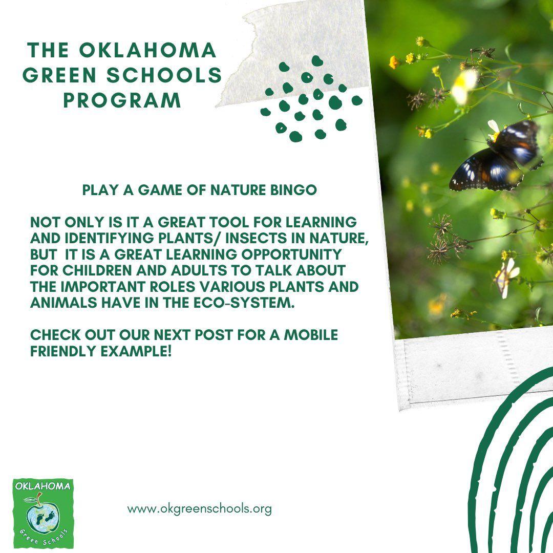 OKLAHOMA GREEN SCHOOLS PROGRAM | GREEN BINGO