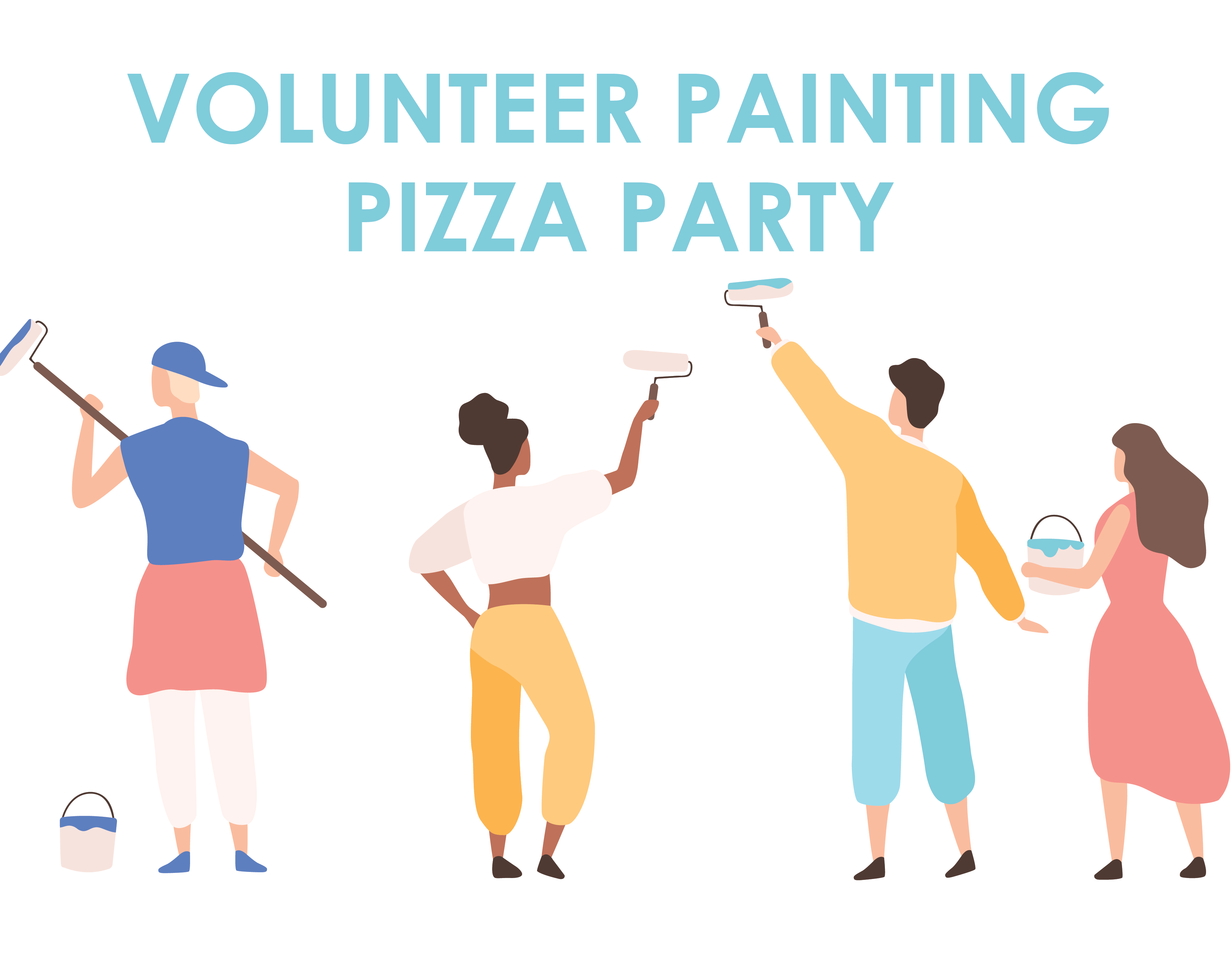 Volunteer Painting Pizza Party