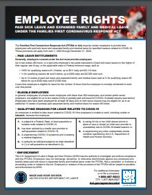 Families First Coronavirus Response Act Poster