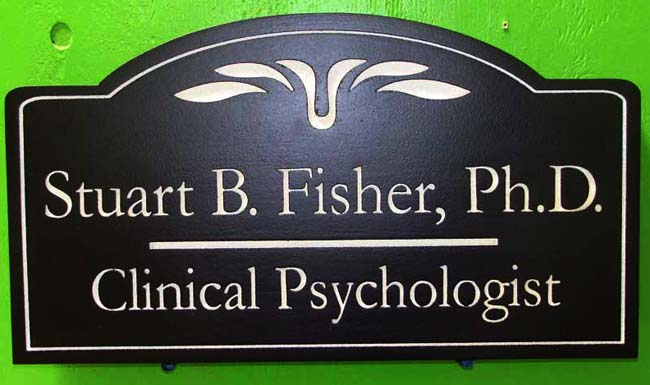B11161- HDU Sign for Clinical Psychologist with name of Dr. (Ph.D.)