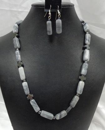 SD Chic Beads-Laboredorite Grey Marble