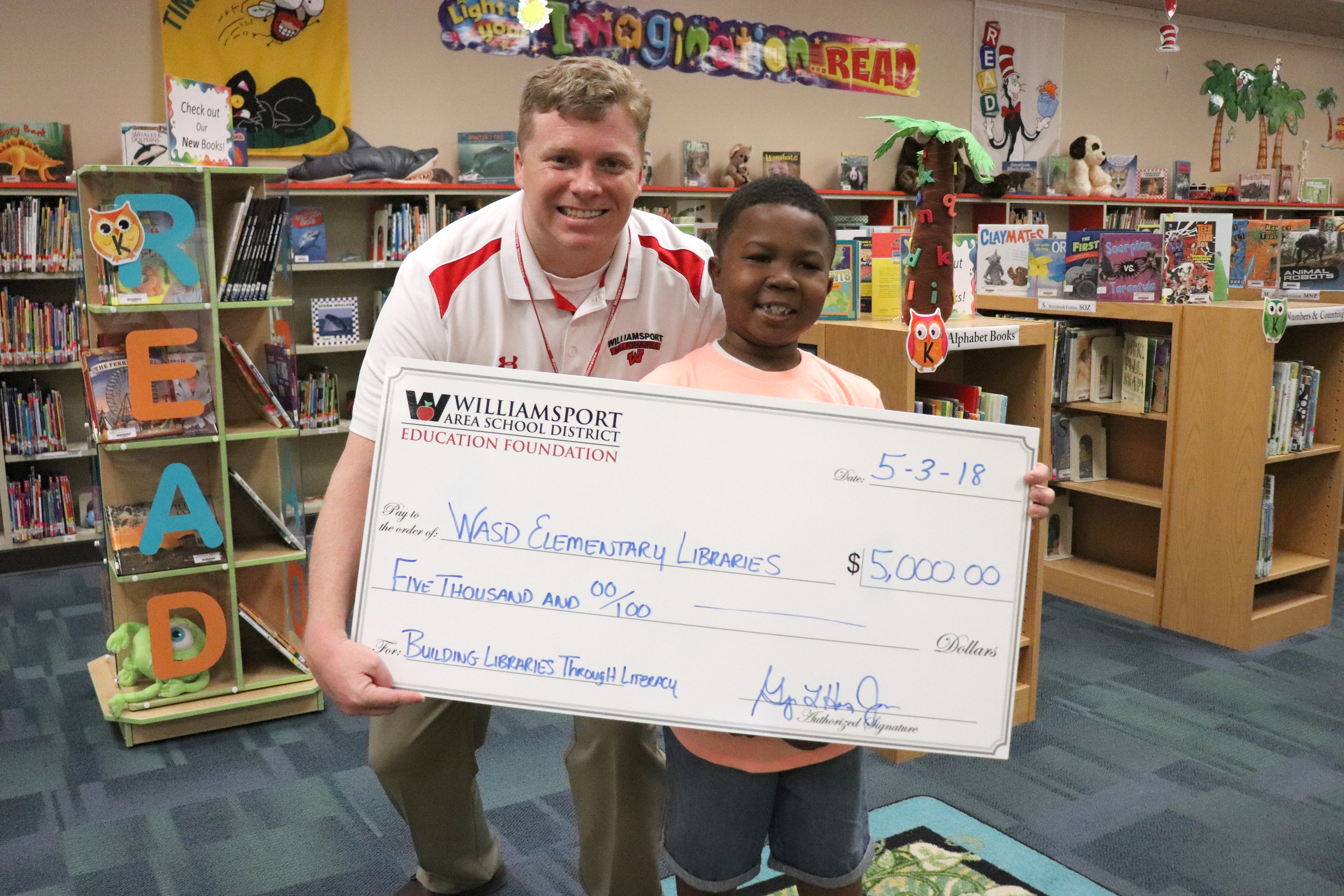 WASDEF Grants $5,000 to Elementary Libraries to Support Summer Reading, Grow Book Collection