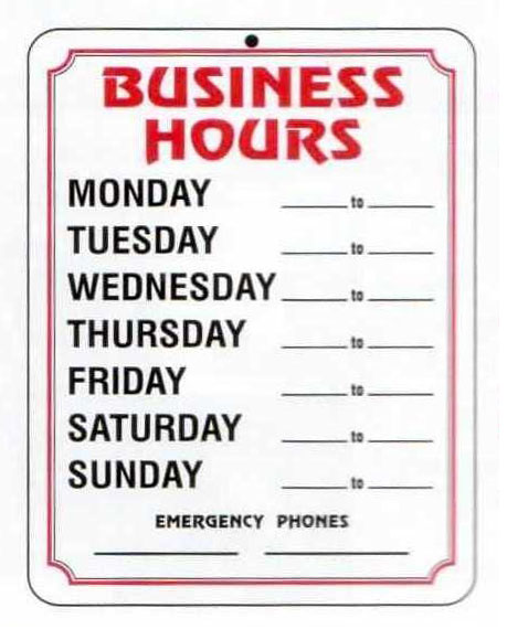 Business Hours Template Word Kubreeuforicco - Business hours template word