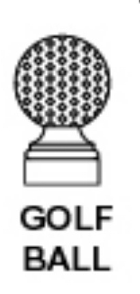 E14875 - Golf Ball Finial for Round Aluminum Signpost