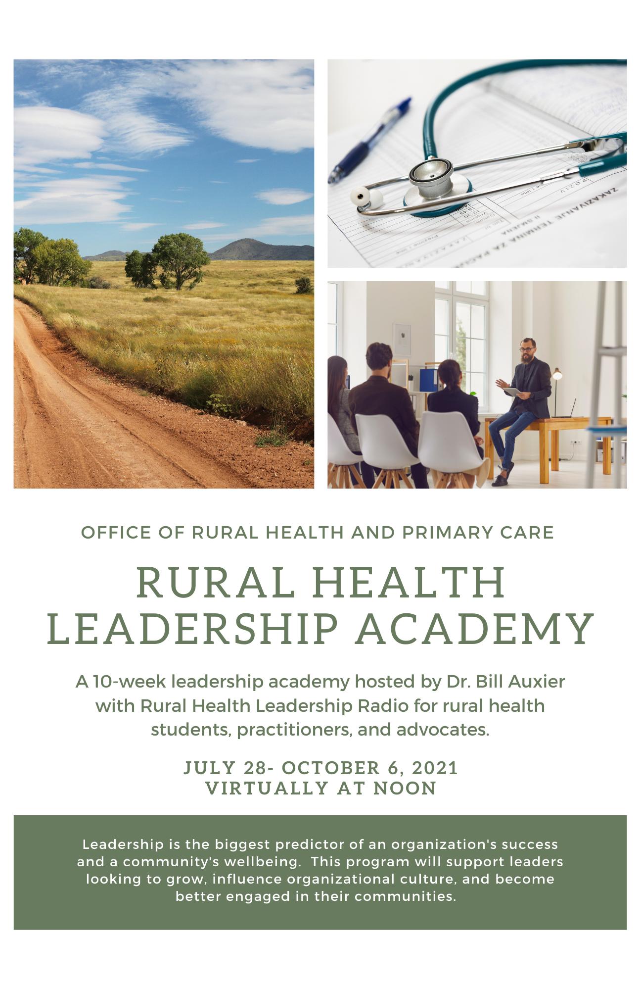 2021 Rural Health Leadership Academy