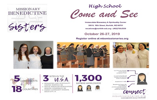 High School Come and See Weekend!