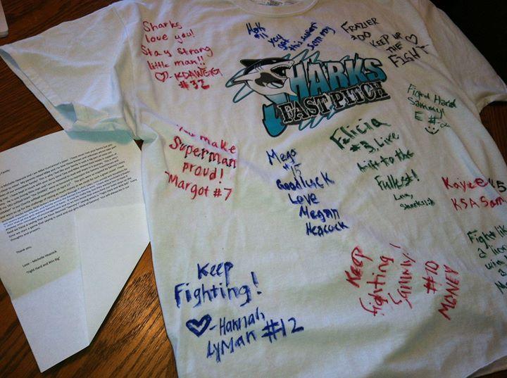 The Sharks raised $630 for Sammy's Superheroes!!