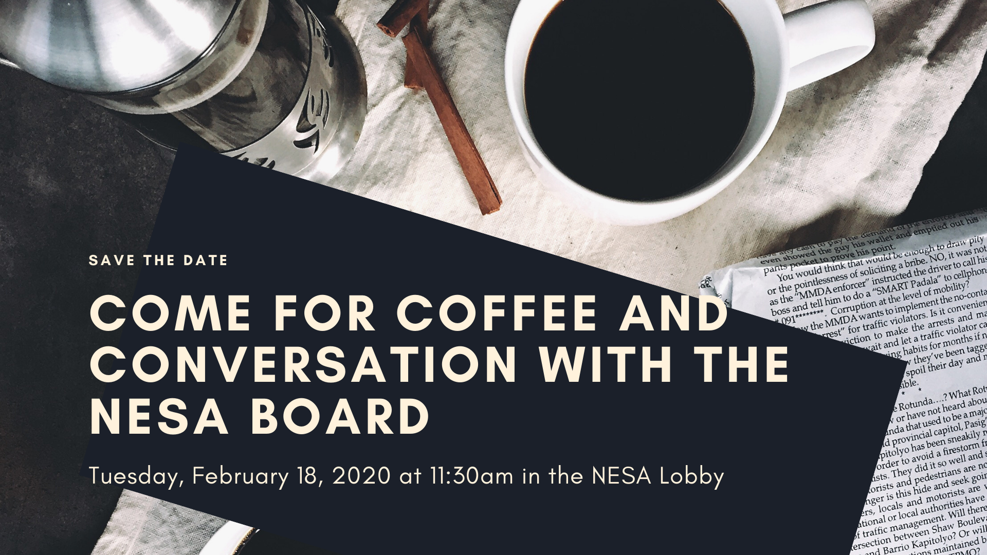 Coffee and Conversation with The NESA Board