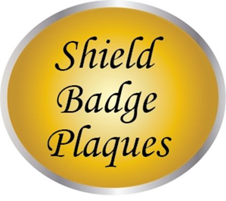 PP-1000 - Carved Wall and Podium  Plaques of  Shield Police Badges