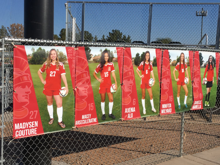 Senior Banners for Athletic and Spiritline | Gilbert | Chandler | Scottsdale