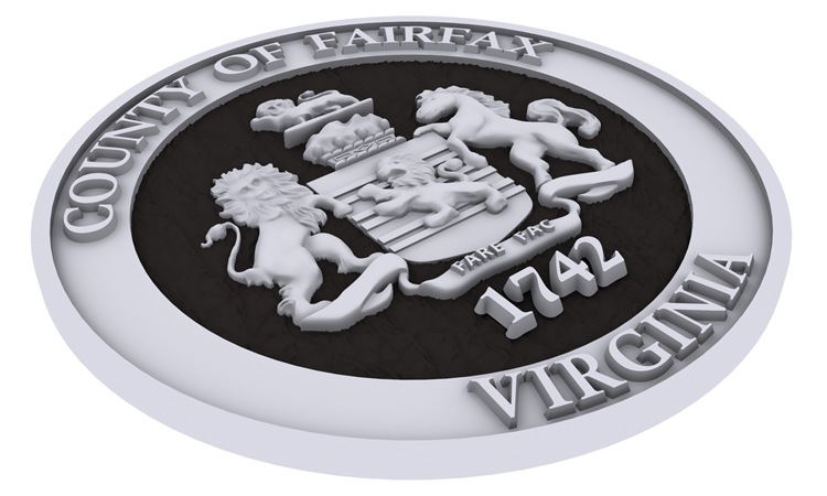 X33350 - Carved 3-D Silver-Coated Wall Plaques for Fairfax County, Virginia (edge view)