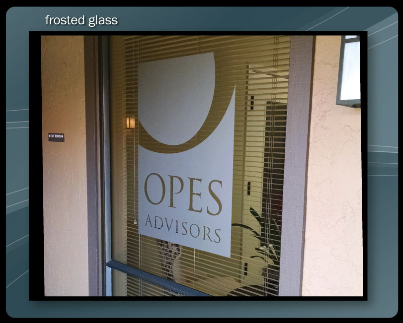 FROSTED GLASS LOGO