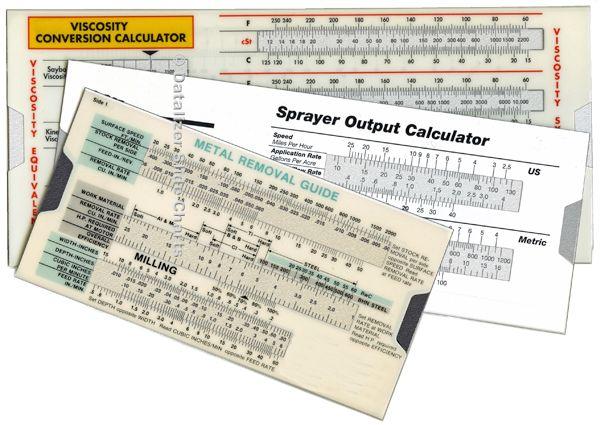 Plastic Slide Rule Calculators