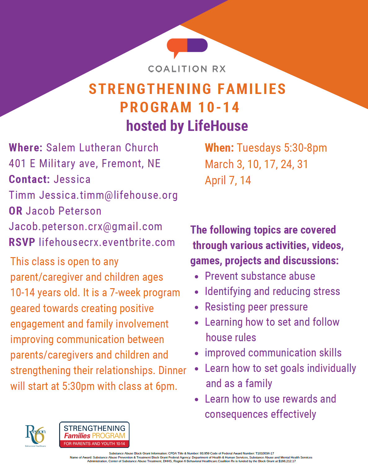 Strengthening  Families  Program  10-14 hosted by LifeHouse