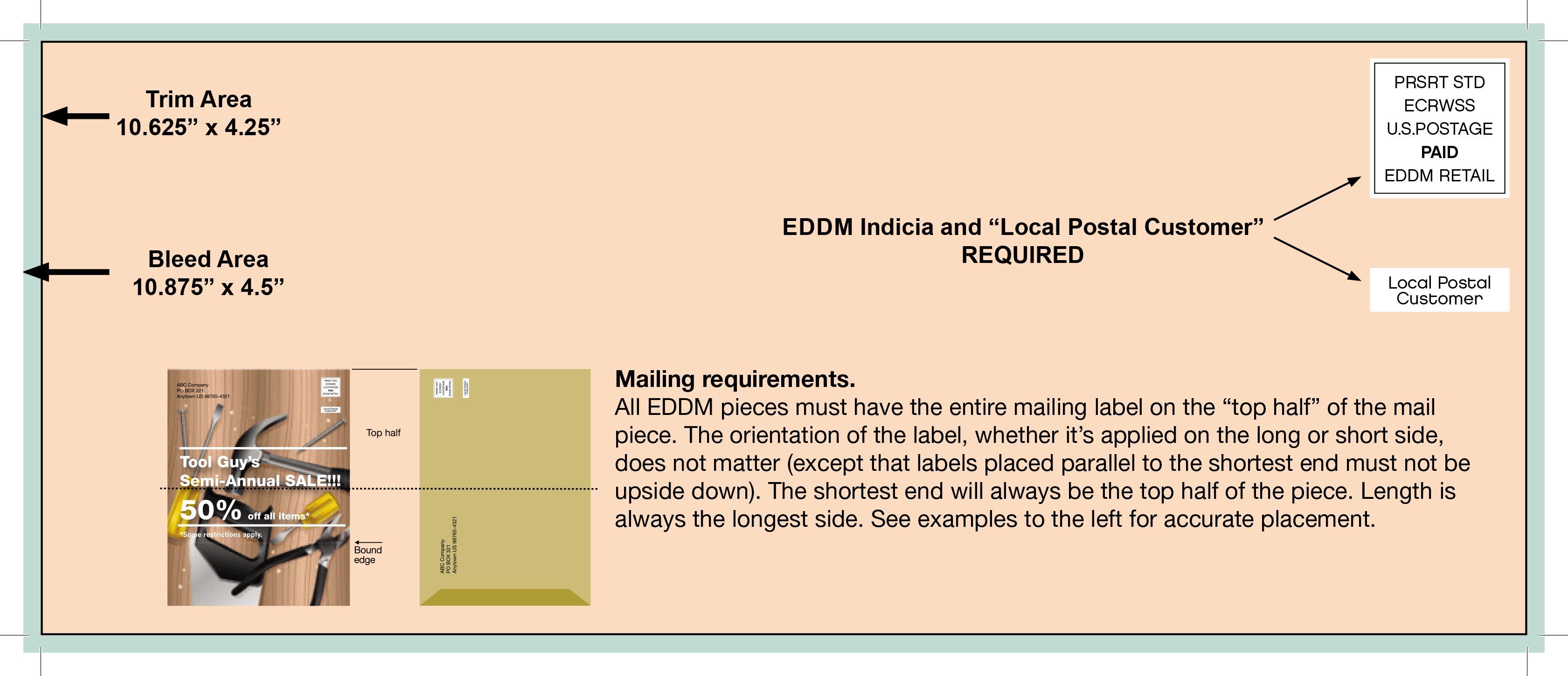 "4.25"" x 10.625"" EDDM"