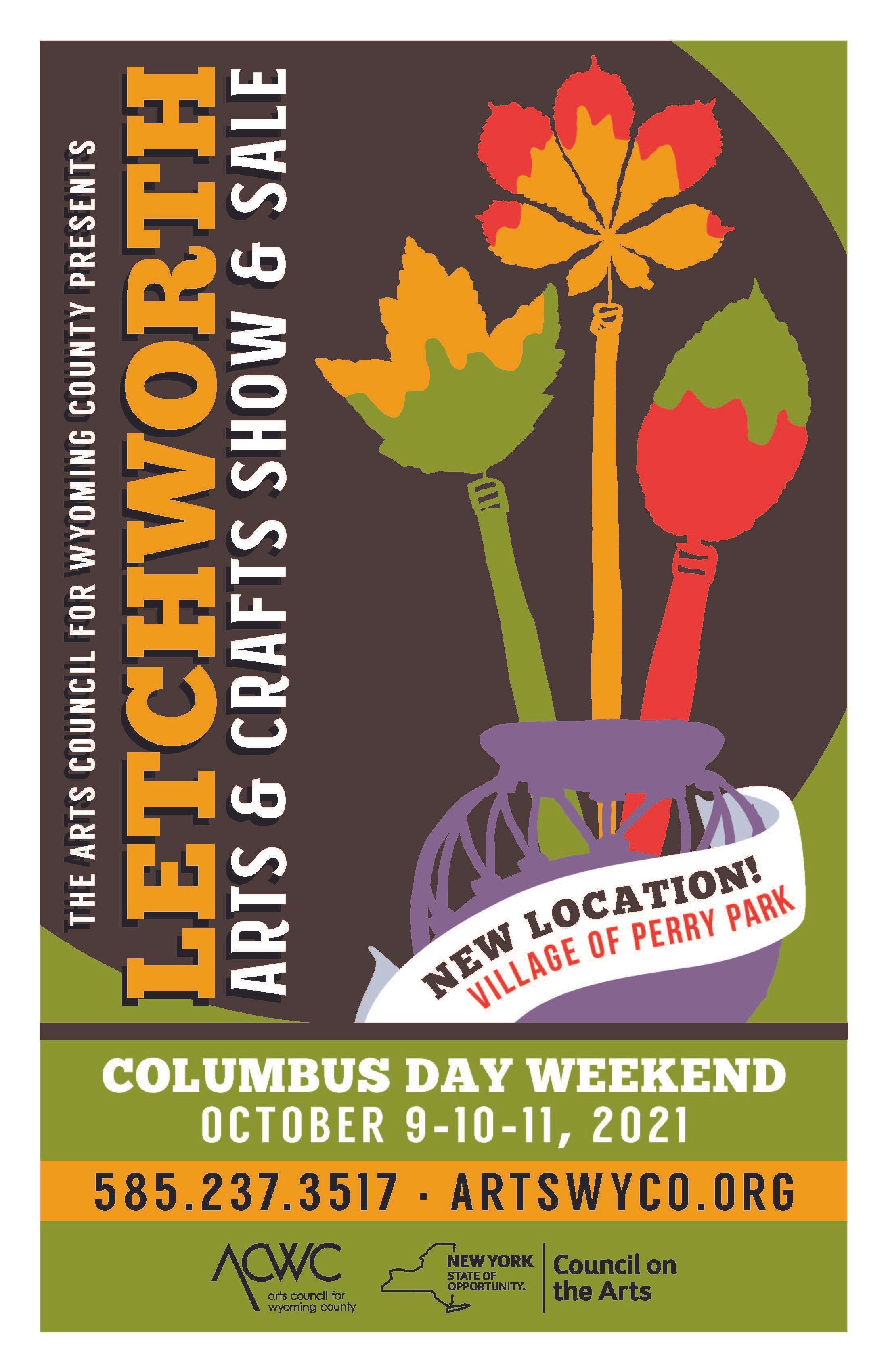 Letchworth Arts & Crafts Show & Sale  is Coming to the Village Park in Perry, NY