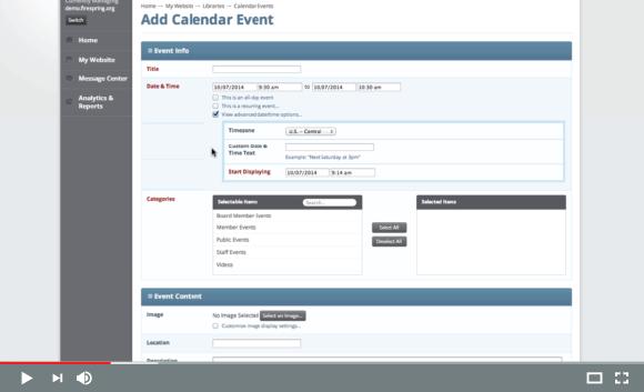 Adding Calendar Events