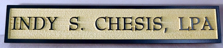 C12520-  Carved and Sandblasted  HDU Name Sign