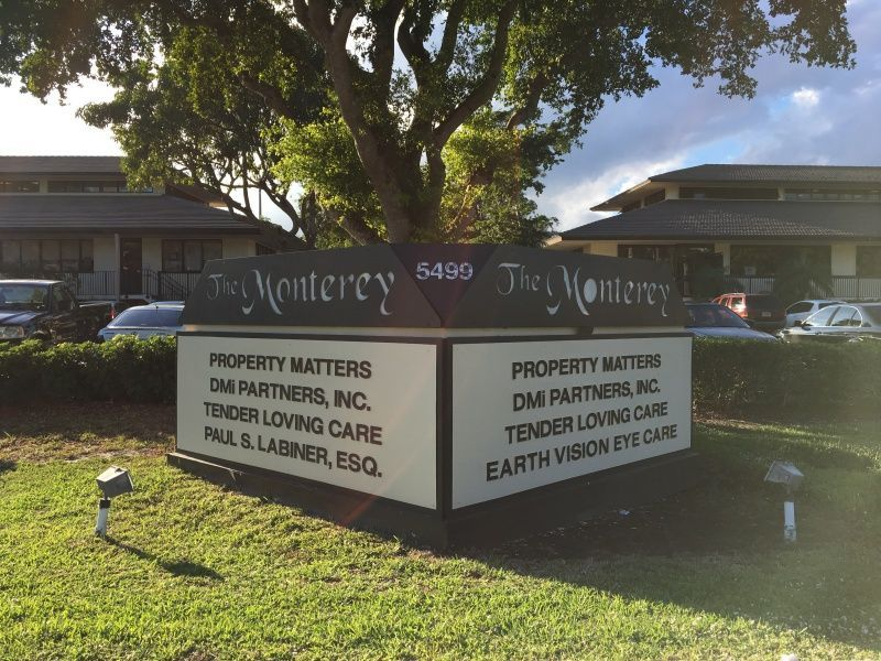 Monument Sign for your Office Park - Sign Partners Boca Raton
