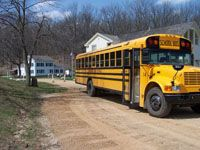 School Bus at the Park
