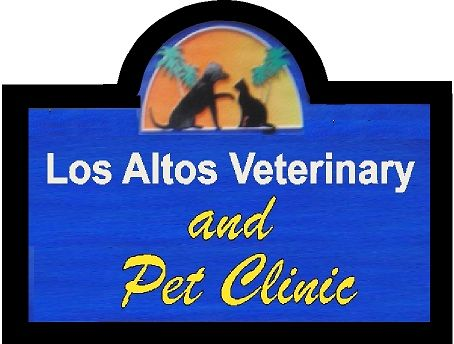 BB11733 - Carved Wood Veterinary and Pet Clinic Sign with Dog and Cat Silhouettes